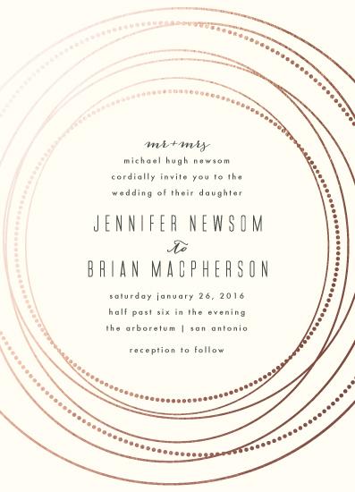 wedding invitations - circled by Rebecca Bowen