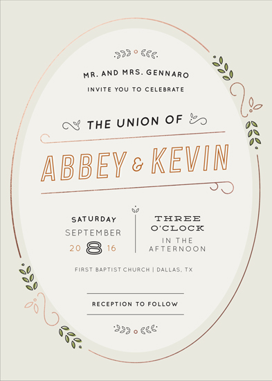 wedding invitations - The Union by Dana Beckwith