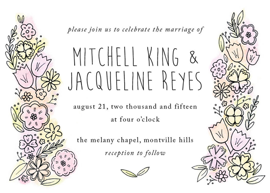 wedding invitations - Botanical Whimsy by Chrissy C