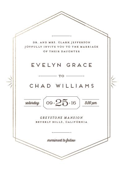 wedding invitations - Glam Luxe by Shirley Lin Schneider