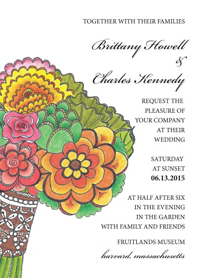 wedding invitations - Fiesta Bouquet by Joyously Yours