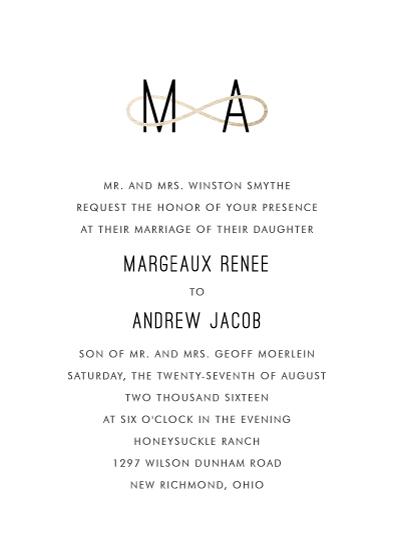 wedding invitations - Infinite by Kim Dietrich Elam