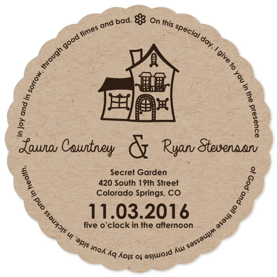 wedding invitations - sweet little house by CL