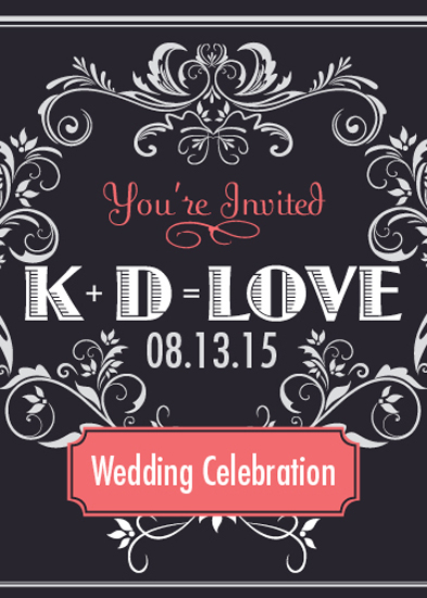 wedding invitations - Love Equation by Irina Drozd