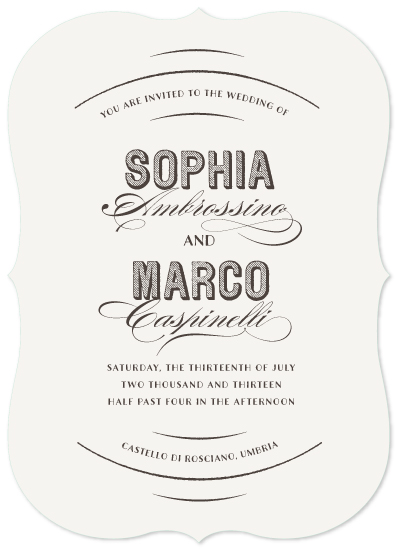 wedding invitations - castello by Susan Asbill