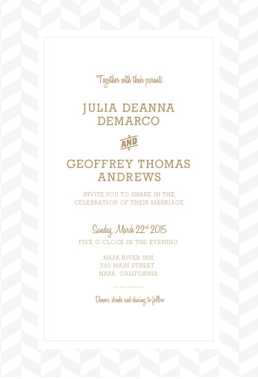wedding invitations - Elegant Chevron by Erin Middleton