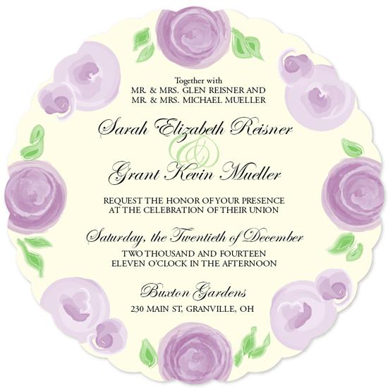 wedding invitations - Flower Garden Wedding by Molly Courtright