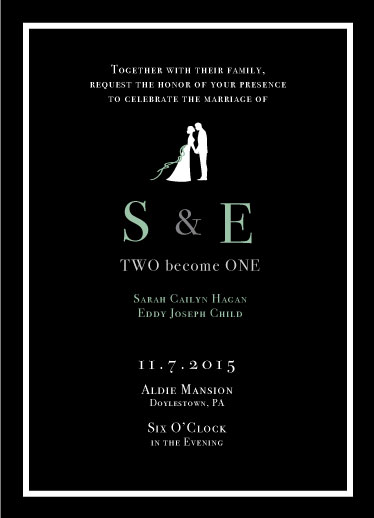 wedding invitations - Black&Green Romantic by HaSeo.Design