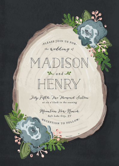 wedding invitations - Rustic Wooded Romance by Pistols
