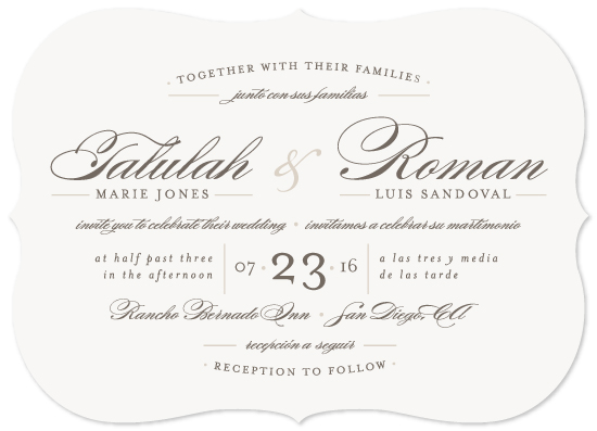 Wedding Invitations Love Language By Pistols