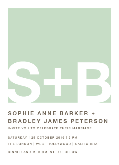 wedding invitations - Colorblock Monogram by Shirley Lin Schneider