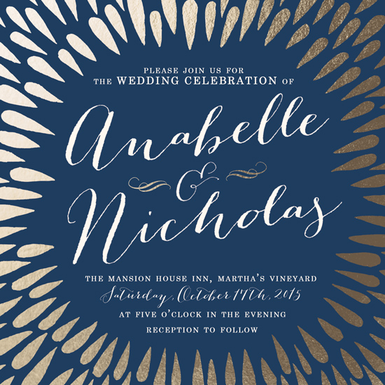 wedding invitations - Midnight Burst by Gillian Rhodes