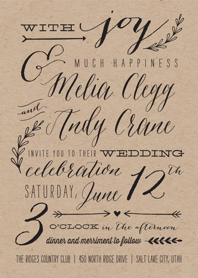 wedding invitations - With Joy by Eric Clegg