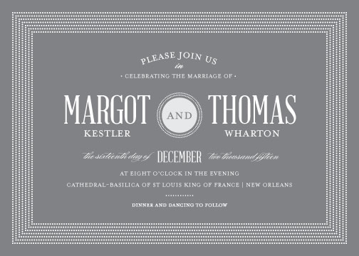 wedding invitations - Broadway Marquee by Little Words Design