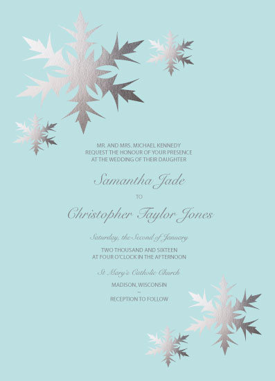 wedding invitations - Winter Wonderland by Tarryn Lee