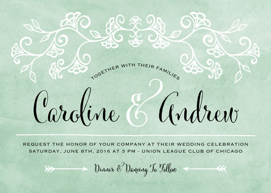 wedding invitations - Elegant Vines by Erin Deegan