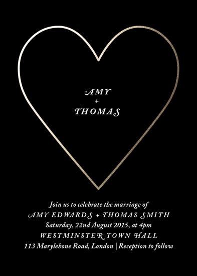 wedding invitations - Modern Minimal Heart by Bianca Ng