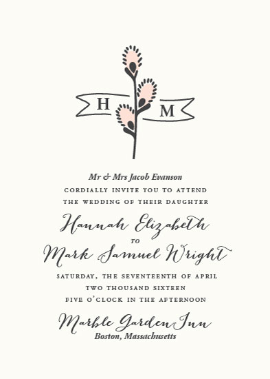 wedding invitations - Spring Catkins by Kimberly Morgan