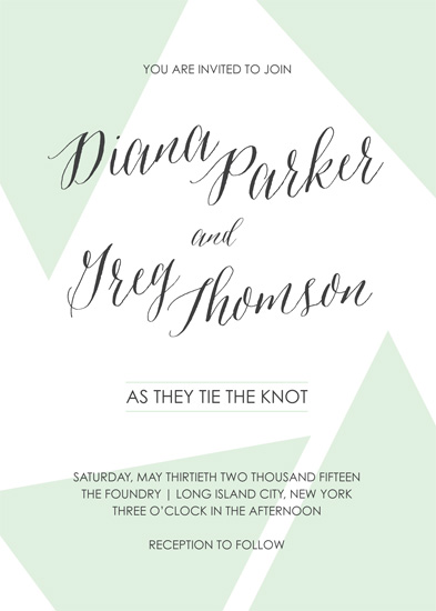 wedding invitations - Geo Love Triangle by Gray Star Design