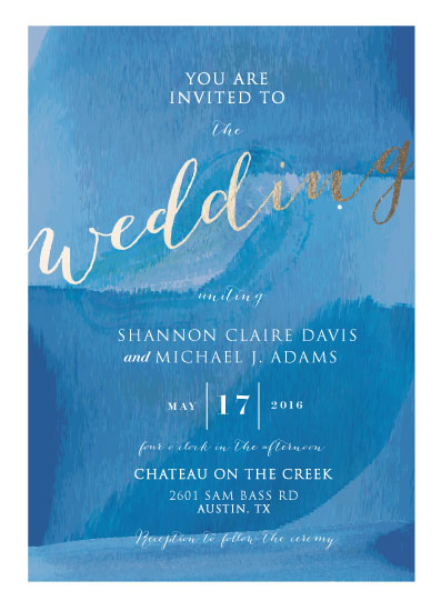 wedding invitations - Tranquil Day by youmewheee