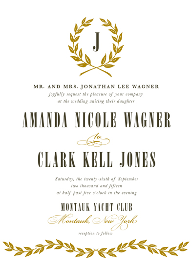 wedding invitations - Laurel Wreath by Sarah Dickson