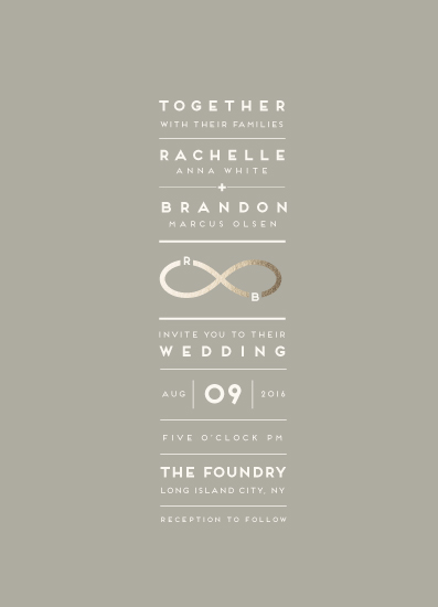 wedding invitations - Monogrammed Infinity by fatfatin