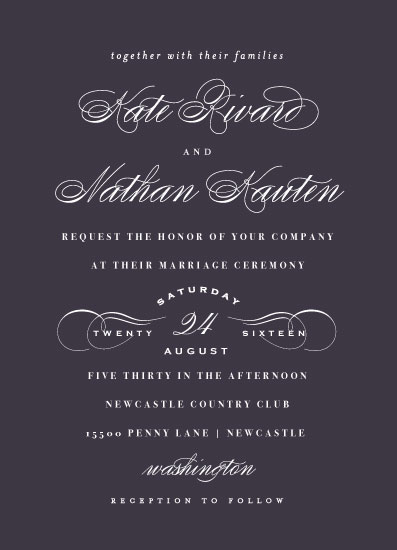 wedding invitations - A Golden Date by Susan Brown