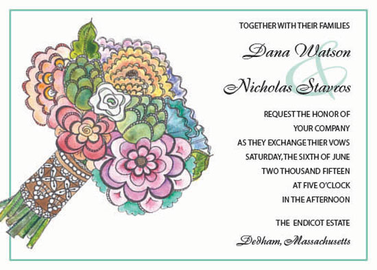 wedding invitations - Pretty Posy by Joyously Yours
