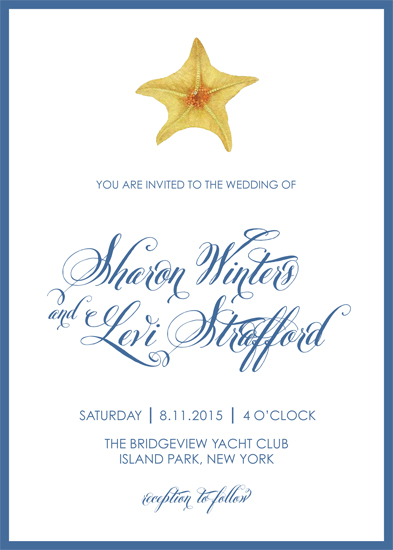 wedding invitations - Ocean Elegance by Gray Star Design