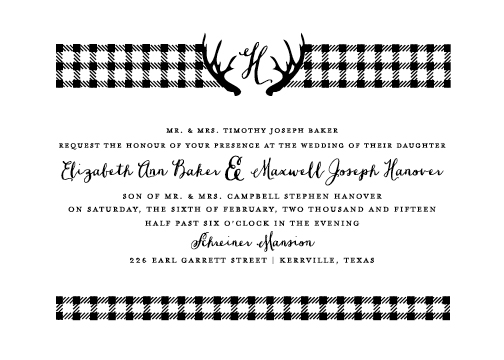 wedding invitations - Cabin Classic by Valerie Woerner