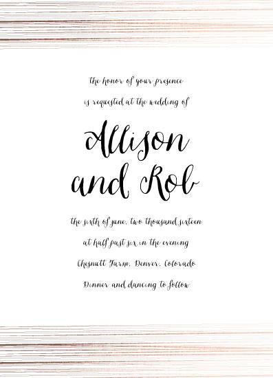 wedding invitations - Golden Elegance by Bethany Anderson