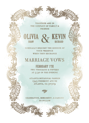 wedding invitations - Intricate Lace by Darling Lemon