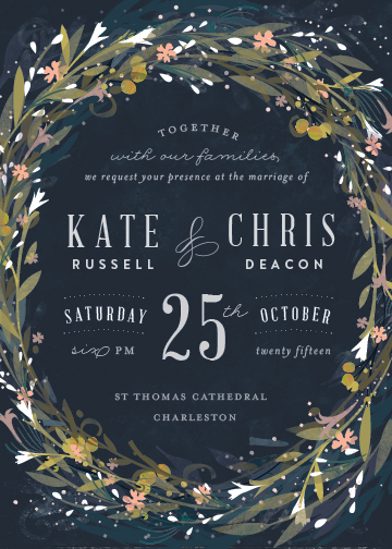 wedding invitations - Floral Crown by Lori Wemple