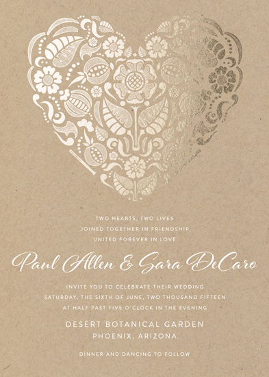 wedding invitations - Suzani Heart by Sarah Dickson