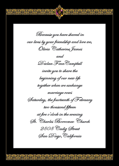 wedding invitations - A Treasured Day by Cecilia Torres