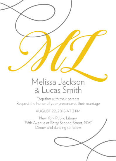 wedding invitations - Initial Impressions by PaperLovePixels
