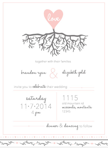 wedding invitations - Rooted in Love by Cara Van Valkenburg