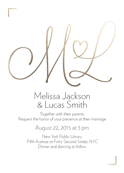 wedding invitations - Initial Hearts by PaperLovePixels
