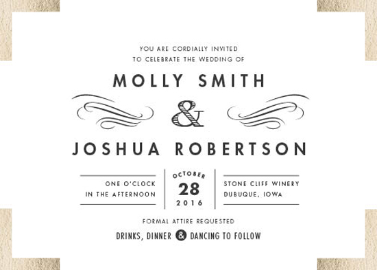 wedding invitations - campaign style by Carolyn Nicks