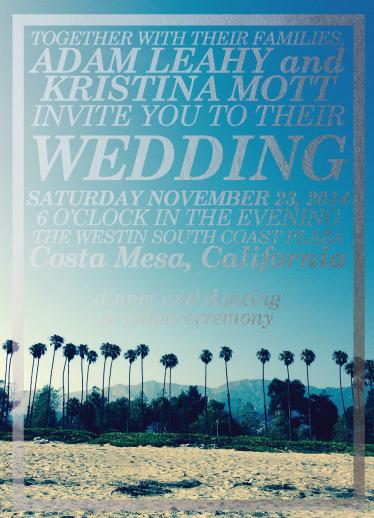 wedding invitations - California Cool by Pooja Dharia