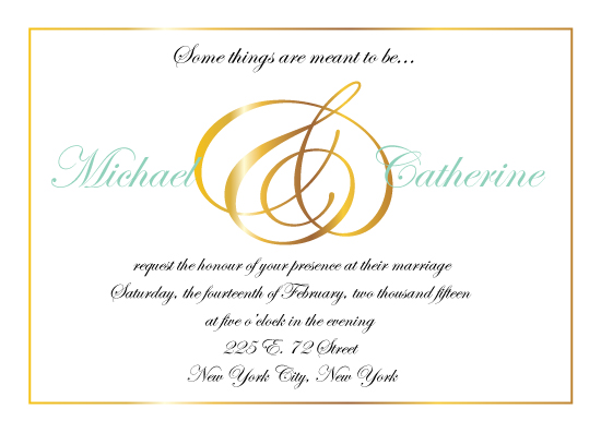 wedding invitations - Meant to Be by Cecilia Torres