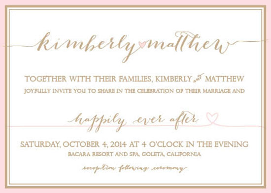 wedding invitations - Happily Ever After with Hearts by Kim McElreath