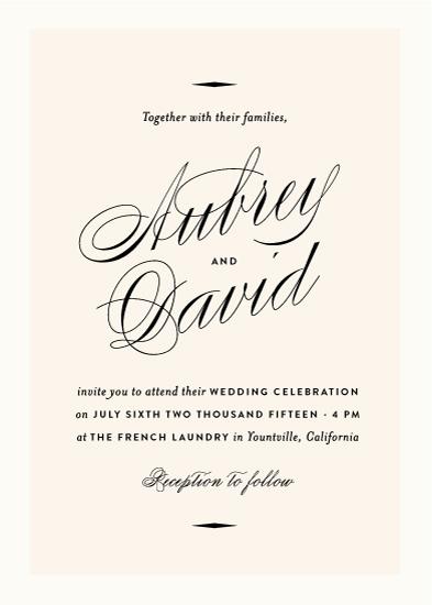 wedding invitations - Sabrina by Olivia Kanaley