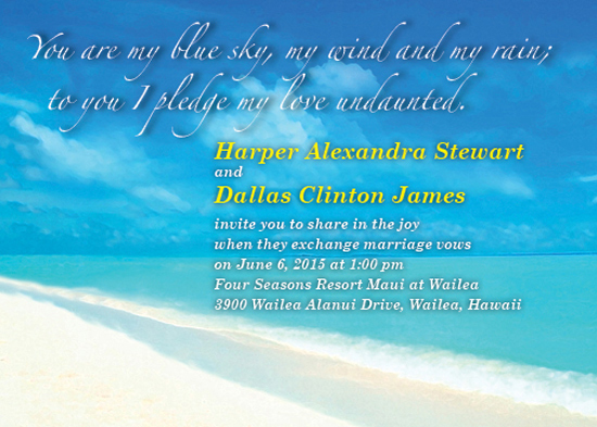 wedding invitations - Wedding in Paradise by Cecilia Torres