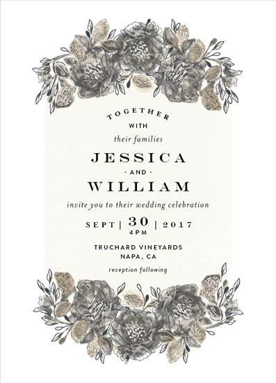 wedding invitations - Painted Sketch by Phrosne Ras