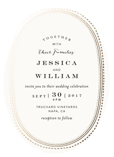 wedding invitations - Gold Portrait by Phrosne Ras