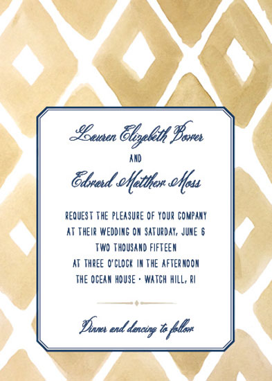 wedding invitations - Watercolor Diamonds in the Rough by Paper Moss