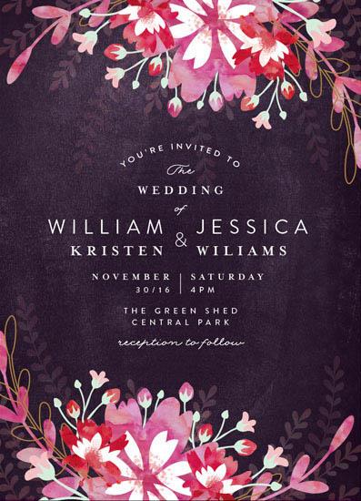 wedding invitations - Enchanting Plum by Phrosne Ras