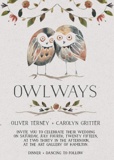 wedding invitations - Owlways and Forever by Laura Konyndyk