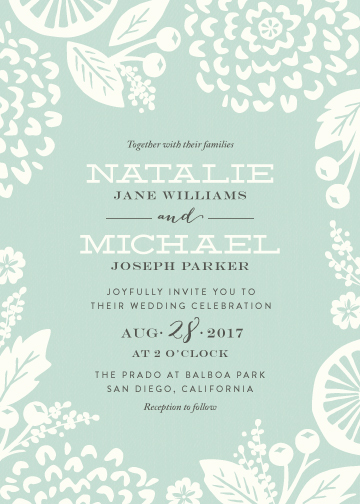 wedding invitations - Floral Silhouette by Griffinbell Paper Co.